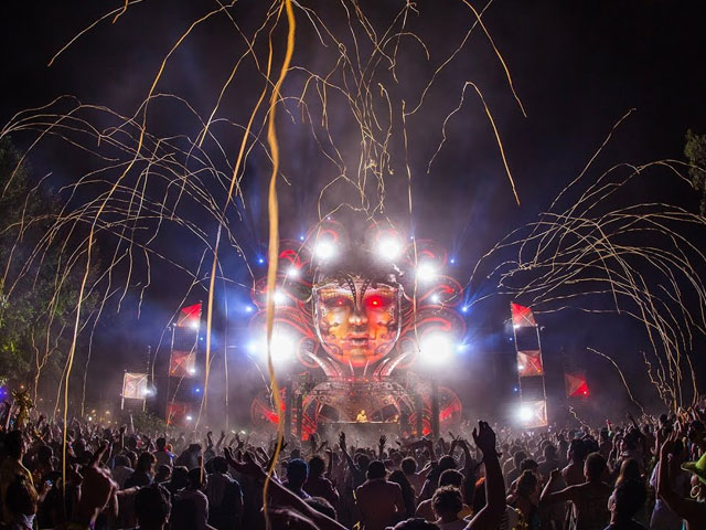 A frame from a video of Mysteryland Chile 2013